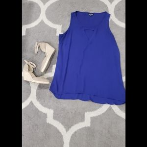 City Chic Royal Blue Chiffon Minidress XXS